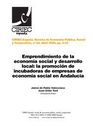 Emprendimiento de la economía social y desarrollo local - CIRIEC ...