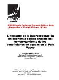 El fomento de la intercooperación en economía social: análisis del ...
