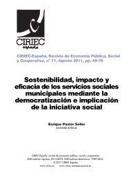 Sostenibilidad, impacto y eficacia de los servicios sociales ...