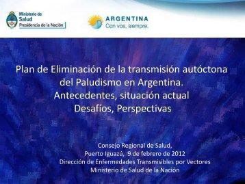 del Paludismo en Argentina Antecedentes situación actual Desafíos Perspectivas