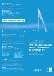 escp – gsasa symposium geneva, switzerland 3-6 ... - Cemefar