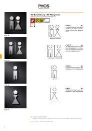 WC-Beschilderung . WC-Piktogramme - Phos