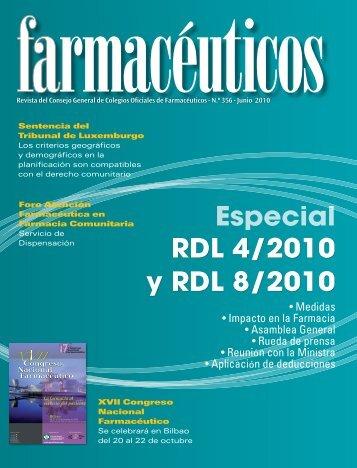 Especial Especial RDL 4/2010 y RDL 8/2010