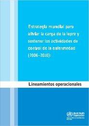 control de la enfermedad (2006–2010) Lineamientos operacionales