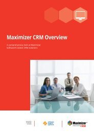 Maximizer CRM Overview