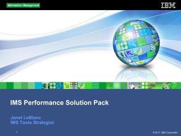 IMS Performance Solution Pack - SpDUG