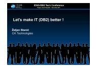 Let's make IT (DB2) better !