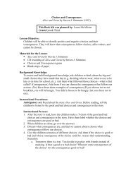 Social Studies Lesson Plan: Choices and Consequences
