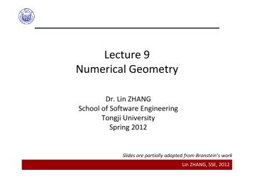 Lecture 9 Numerical Geometry