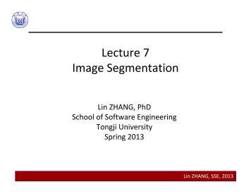 Lecture 7 Image Segmentation