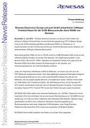 Renesas Electronics Europe und port GmbH präsentieren CANopen ...