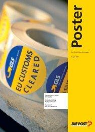 Poster - Das Geschäftskundenmagazin - Die Schweizerische Post