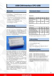 USB/CAN-Interface CPC-USB - Port GmbH