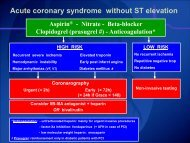 Acute coronary syndrome without ST elevation Aspirin - Biwac