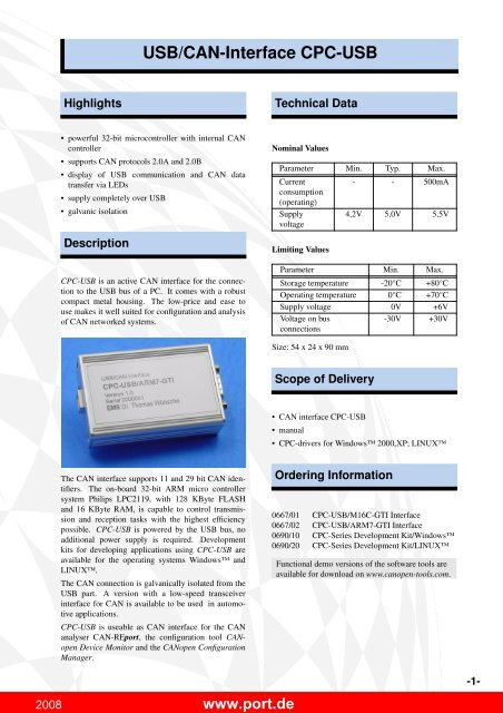 CPC-USB ARM7 TREIBER WINDOWS XP