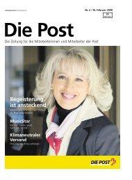 Begeisterung ist ansteckend - Die Schweizerische Post