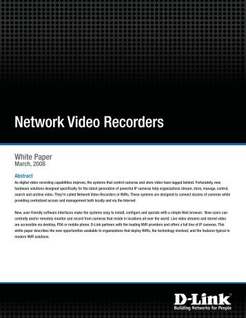 Network Video Recorders - FTP - D-Link