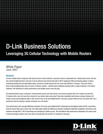 D-Link Business Solutions