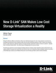 New D-Link SAN Makes Low Cost Storage Virtualization a Reality