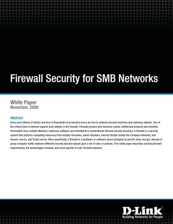 Firewall Security for SMB Networks