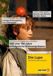 Die Lupe - Das Briefmarkenmagazin - Die Schweizerische Post