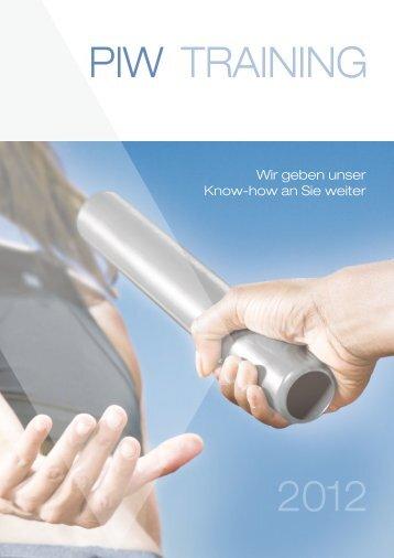PIW Training 2012 - Privatwirtschaft