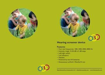 Hearing screener device
