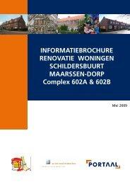 Informatiebrochure complex 602A en 602B - Portaal