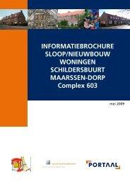 Informatiebrochure complex 603 - Portaal