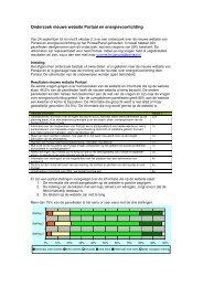Onderzoek nieuwe website Portaal en energievoorlichting