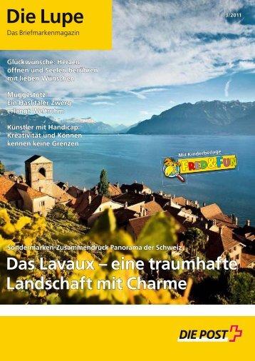 Die Lupe, Das Briefmarkenmagazin  - Die Schweizerische Post