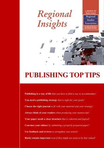 PUBLISHING TOP TIPS