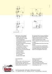 Prospektmaterial Slim-Line - RAUH SR Fensterbau GmbH