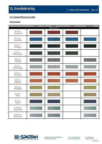 Trespa Meteon Extended Colour Scheme Ravago