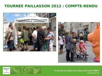 TOURNEE PAILLASSON 2012  COMPTE-RENDU