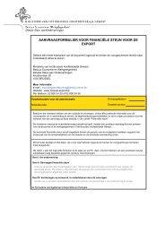 AANVRAAGFORMULIER VOOR FINANCIËLE STEUN VOOR DE EXPORT