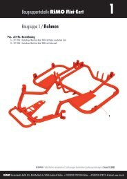 Baugruppentabelle RiMO Mini-Kart Baugruppe 1 / Rahmen