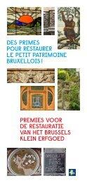 Premies voor de restauratie van het Brussels Klein Erfgoed