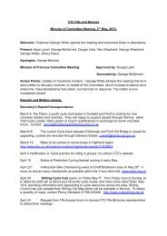 Minutes of meeting held 02/05/13 - CTC Fife and Kinross
