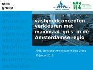 vastgoedconcepten verkleuren met maximaal 'grijs' in de Amsterdamse regio