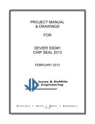 PROJECT MANUAL & DRAWINGS FOR SEVIER SSD#1 CHIP SEAL 2013