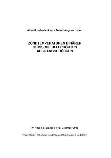 zündtemperaturen binärer gemische bei erhöhten ... - PTB