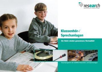 Klassenhör-/Sprechanlage resEARch comfort - research ...