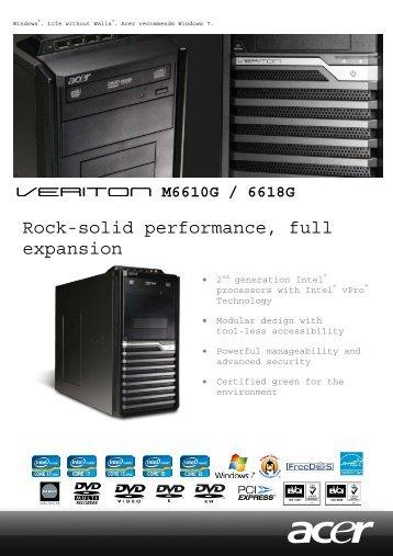 Acer Veriton 7700GX NVIDIA Display Vista