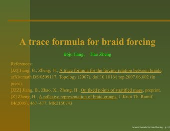 A trace formula for braid forcing