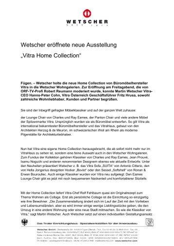 """Wetscher eröffnete neue Ausstellung """"Vitra Home Collection"""""""