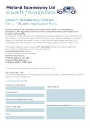 Student Scholarship Scheme Part 1 - Student Application Form
