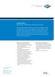 ENGINEERING // erfahrUnG, KoMpetenz Und nachhaltiGKeit