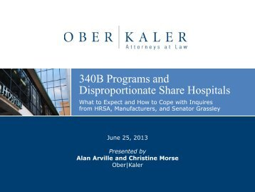 340B Programs and Disproportionate Share Hospitals