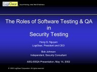The Roles of Software Testing & QA in Security Testing
